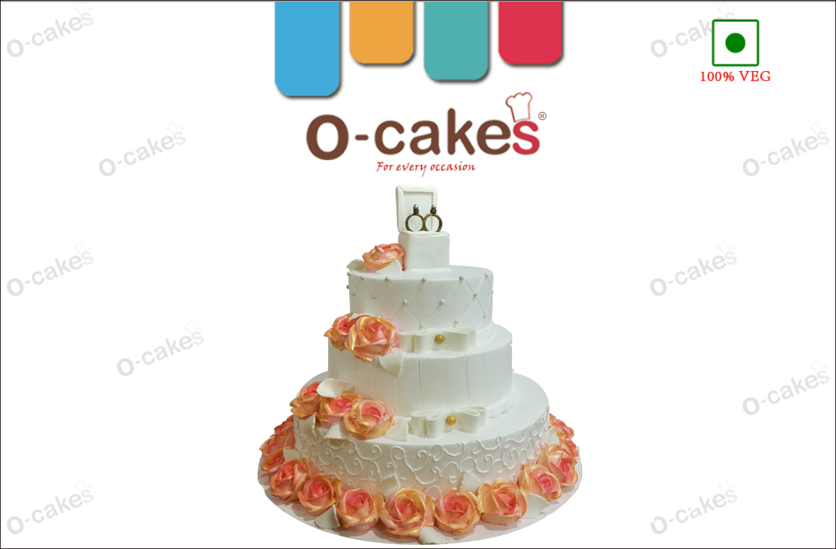 wedding cream cake 2